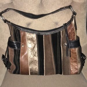 Fossil all leather and suede purse excellent cond
